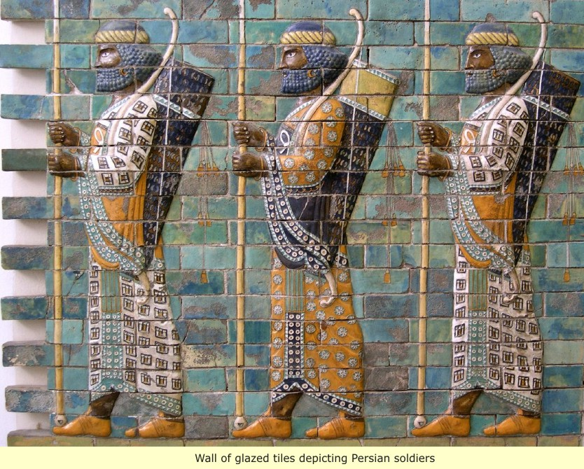 This image has an empty alt attribute; its file name is persian_wall-soldiers.jpg