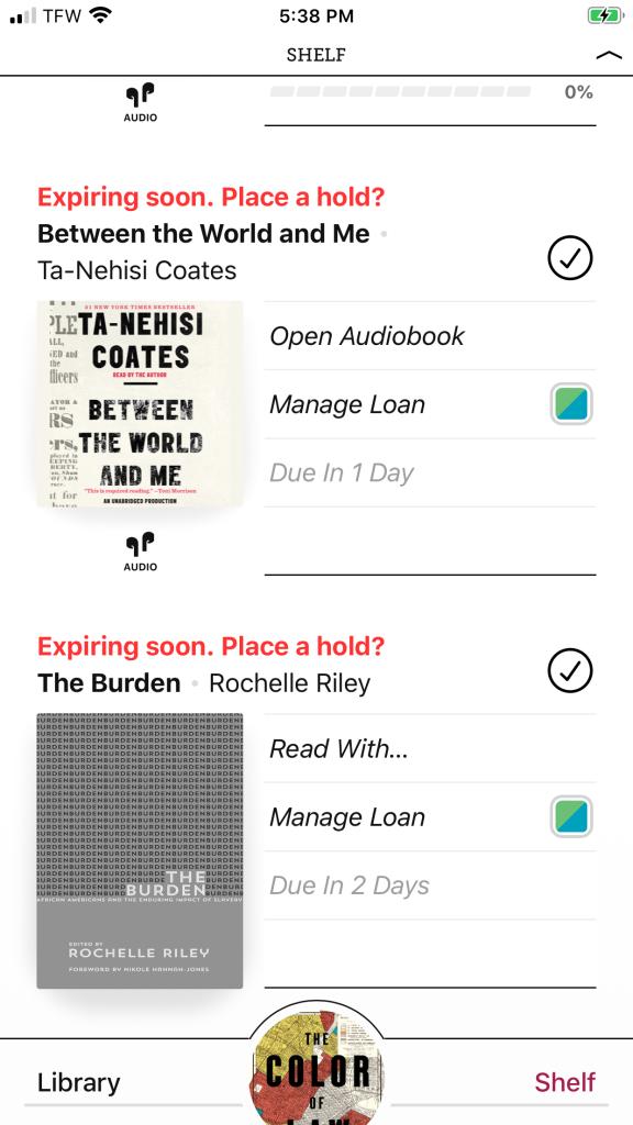 Burden Books and Ta-Nehisi Coates Books