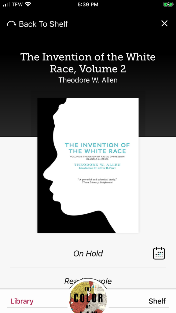 The Invention of the White Race book